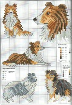 PAW Prints Collection Mouseloft MINI KIT PUNTO CROCE-Border Collie