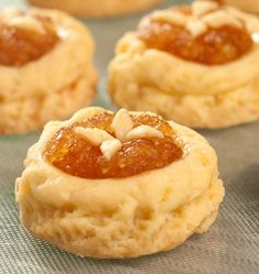 Buttery Pineapple Tarts  These pinapple jam tarts are buttery, flakey with a nice touch of pineapple jam.  You can use homemade jam or store-bought.