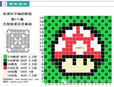 1Up Mario pixel crochet blanket pattern - https://de.pinterest.com/pin/374291419012230061/