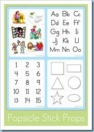 Good resource for preschool printables