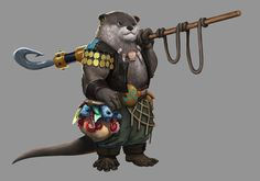 Animal characters for a DnD book. Game Character Design, Character Design Inspiration, Character Concept, Character Art, Character Ideas, Concept Art, Dnd Characters, Fantasy Characters, Pathfinder Character