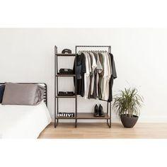 Most popular ways to Elegant Creative DIY Clothes Rack Design Ideas – Diy Clothes Rack, Clothes Rack Bedroom, Metal Clothes Rack, Hanging Clothes Racks, Bedroom Closets, Metal Rack, Hanging Racks, Bedroom Storage, Master Bedroom