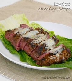 Low Carb Lettuce Steak Wraps with Cheese. The perfect low carb lunch! Low Carb Lettuce Steak Wraps with Cheese. The perfect low carb lunch! Best Low Carb Recipes, Low Sugar Recipes, Healthy Recipes, Banting Recipes, Steak Wraps, Lunch Recipes, Beef Recipes, Real Food Recipes, Keto Foods