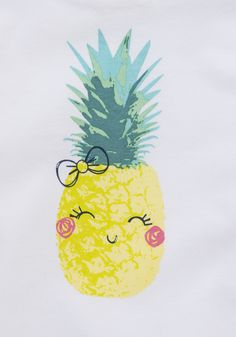 Cute pineapple: i want this on a shirt!