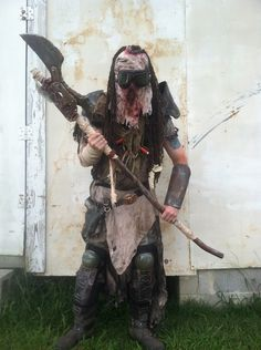 Wasteland Warrior costume by AftermathApparel Post Apocalyptic Costume, Apocalyptic Fashion, Mad Max, Larp, Fallout, Wasteland Warrior, Dystopia Rising, Wasteland Weekend, Warrior Costume