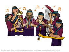 The musicians - Fiery Furnace PowerPoint presentation - Lamp Bible Pictures