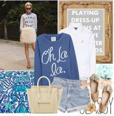 """Oh La La"" by ahdorable ❤ liked on Polyvore"