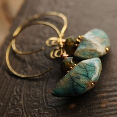 Raku Earrings by Ewelina Suchanek