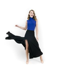 Olivia Top in Blueberry and Simone Skirt