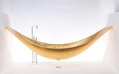 Vessel by Spinter Works - Excl distribue par Van Marcke #bain #design #gold