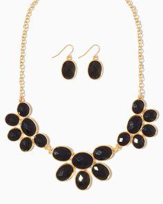 charming charlie | Petal to the Metal Necklace Set | UPC: 410004618895 #charmingcharlie