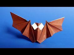 Easy Origami Bat Tutorial for Halloween - YouTube