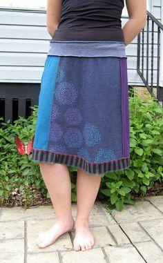 Turnaround Designs upcycled tshirt skirt