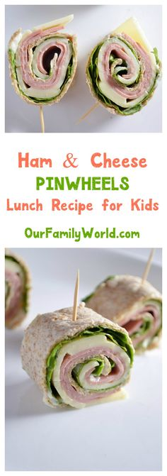 Want to make back to school lunch recipes fun and healthy? Try these cute ham & cheese pinwheel sandwiches! Healthy School Snacks, School Lunch Recipes, Pinwheel Sandwiches, Back To School, Pinwheels, Ham And Cheese, Kids, Fun, Toddlers