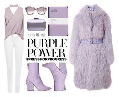 """International Women's Day: Purple Power"" by eva-jez on Polyvore featuring Holly's House, Saks Potts, Maison Margiela, Petar Petrov, WearAll, Boohoo, Carvela, Roksanda, purplepower and internationalwomensday"
