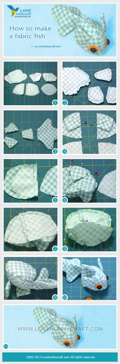 How to make a fabric fish