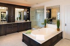 24 Beautiful Master Bathrooms: http://www.homeepiphany.com/24-beautiful-master-bathrooms/
