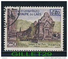 Laos Stamp - Temple de Vat Phou Pakse