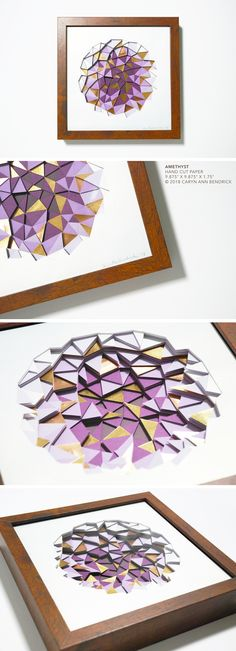 The fine paperworks of Caryn Ann Bendrick, an artist whose paper based works are tactile meditations on repetition and the dichotomy of destruction and creation. Modern Art, Contemporary Art, Paper Artwork, Papercutting, Paper Artist, Cut Paper, Kirigami, Art Object, Amethyst