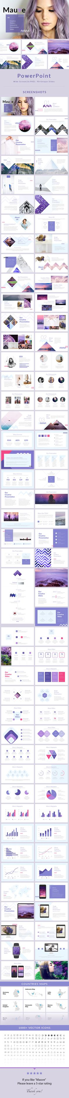 Mauve - #PowerPoint Presentation Template - Creative PowerPoint Templates Download here: https://graphicriver.net/item/mauve-powerpoint-presentation-template/19941904?ref=alena994