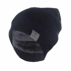 2cd4ec4029a Winter Hat Knitted Plus Velvet Beanie Cap