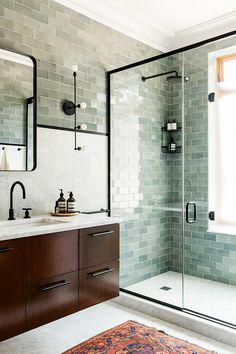 25 Modern Minimalist Master Bathroom Design With Black Shower Frames