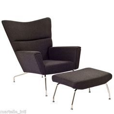 Lounge Chair Modern w Ottoman Steel Frame New Free Shipping | eBay