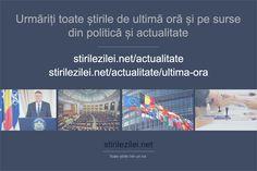 Urmăriți toate știrile de ultimă oră și ultimele știri pe surse din politică și actualitate, pe paginile de mai jos:  stirilezilei.net/actualitate/ stirilezilei.net/actualitate/stiri-de-ultima-ora/  #stiri #actualitate #Romania Mai