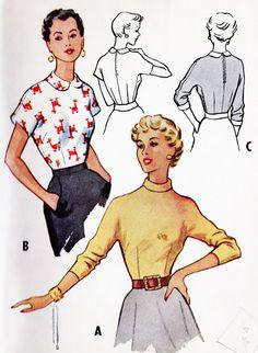 1950s Misses Blouse Vintage