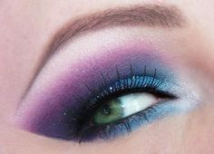 beautiful purple and blue eye shadow