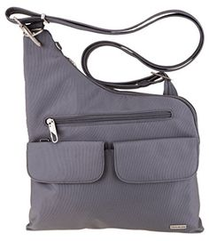 Travelon Anti-Theft Cross-Body Bag (Pewter) *** Visit the image link more details.