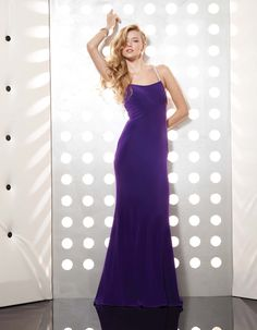 Purple Sequined Halter Open Back Sweep Train Floor Length Chiffon Evening Dress