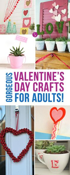 Valentines Day Crafts for Adults | DIY | Love | Gifts | Home Decor