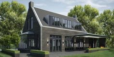 Dakkapel modern, met zwarte kozijnen voor Jaap.... Architecture Details, Modern Architecture, Dormer Bungalow, Villa, Barn Living, Modern Farmhouse Exterior, Mansions Homes, Modern Barn, The Ranch
