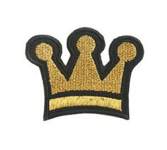 crown Gold Appliques ,Appliques,Embroidered patch,Sewing, Patch,embroidery design,Embroidery,Textile,Fiber,Needlecraft,Fabric,General s by omnisupply on Etsy