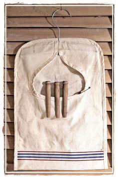 Clothes Pin Bag from linen tea towel