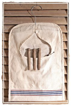 Clothes Pin Bag from linen tea towel