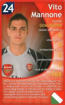 2011 Top Trumps Specials Arsenal #NNO Vito Mannone Front