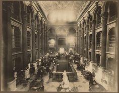 Inside the old Boston Public Library on Boylston Street, built in 1858