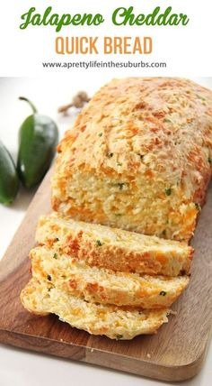 Jalapeno Cheddar Quick Bread is a great addition to your dinner table. This Jalapeno Cheddar Quick Bread is a great addition to your dinner table.This Jalapeno Cheddar Quick Bread is a great addition to your dinner table. Savory Bread Recipe, Bread Maker Recipes, Quick Bread Recipes, Cooking Recipes, Cheddar Bread Recipe, Broccoli Cheese Bread Recipe, Pancake Bread Recipe, Easy Homemade Bread, Savory Zucchini Bread