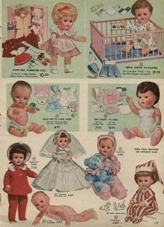Tiny Tears, my favorite doll when I was 4.