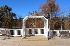 Raised wedding arbor on cliff-overlook deck with 1880 church bell to ring-in your wedding vows - the arbor is 8 foot wide and more than 4 foot deep (Wedding & Event Venue / Bed & Breakfast - VA Blue Ridge Mountains)