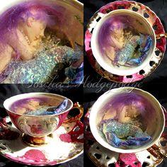 OOAK Mermaid  polymerclay and resin