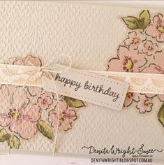 Happy Birthday Tag, Embossing Folder, Stampin Up Cards, Stamping, Card Stock, Catalog, Challenges, Paper Crafts, Inspire