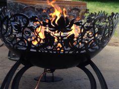 Awesome custom fire pit Custom Fire Pit, Fish, Decoration, Awesome, Garden, Outdoor Decor, Ideas, Decor, Garten