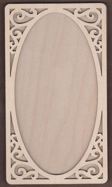 WT1878-Laser cut Scroll Corner 2 Piece Frame Kit