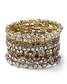 Seasonal Whispers Large Crystal Stone Bracelets; 66.00 @ Bloomingdale's