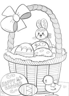 Free printable Easter coloring book pages for kids. Free printable Easter eggs, bunnies, Easter baskets and more, these free coloring book pages will keep the kids happy for hours! Easter coloring sheets and coloring book pictures too. Easter Coloring Pages Printable, Easter Bunny Colouring, Easter Egg Coloring Pages, Spring Coloring Pages, Easter Printables, Coloring Pages For Kids, Coloring Books, Kids Coloring, Easter Pictures