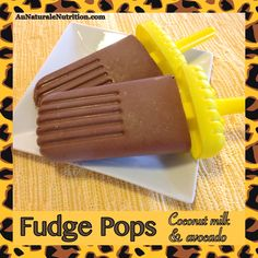 Frozen Fudge Pops! With coconut milk and avocado. Super creamy, healthy, and delicious! (Paleo) By Jenny at www.AuNaturaleNutrition.com
