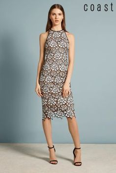 Buy Coast Mono Ritvina Lace Shift Dress from the Next UK online shop